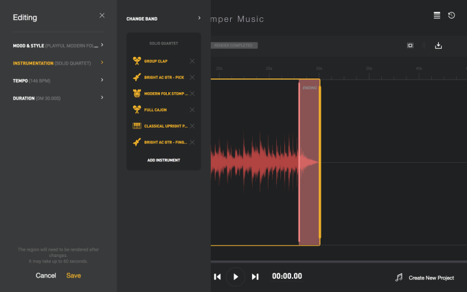 Amper screenshot